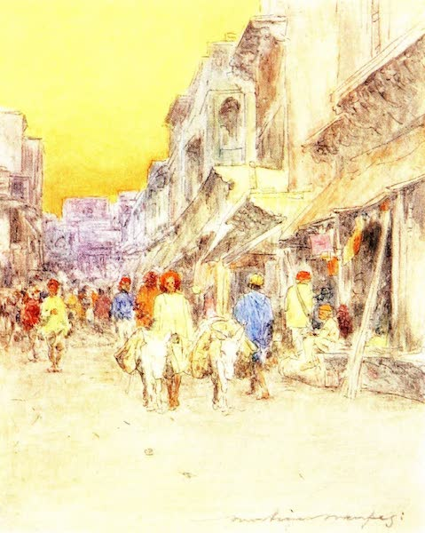 India by Mortimer Menpes - A Quiet Street (1905)