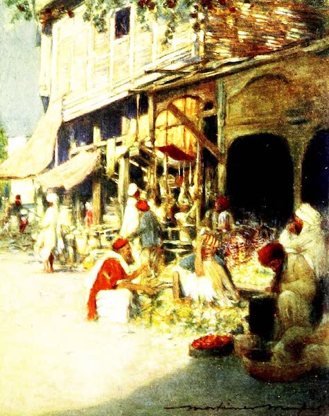 India by Mortimer Menpes - A Rag Shop (1905)