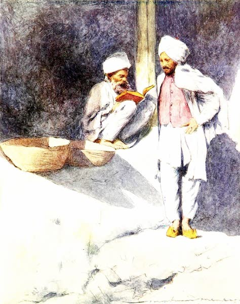 India by Mortimer Menpes - A Learned Man of Peshawur (1905)