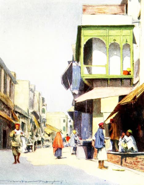 India by Mortimer Menpes - A Narrow Thoroughfare (1905)