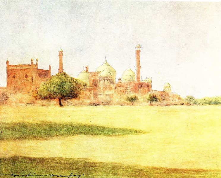 India by Mortimer Menpes - The Jumna Masjid (1905)