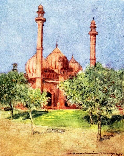 India by Mortimer Menpes - Naul Masa Mosque (1905)