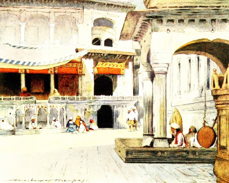 India by Mortimer Menpes - In the Temple of Amritsar (1905)