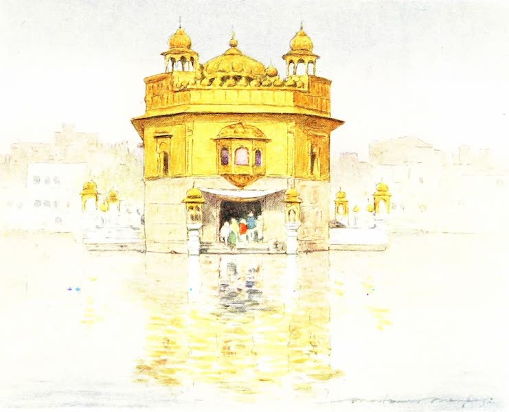 India by Mortimer Menpes - The Golden Temple, Amritsar (1905)