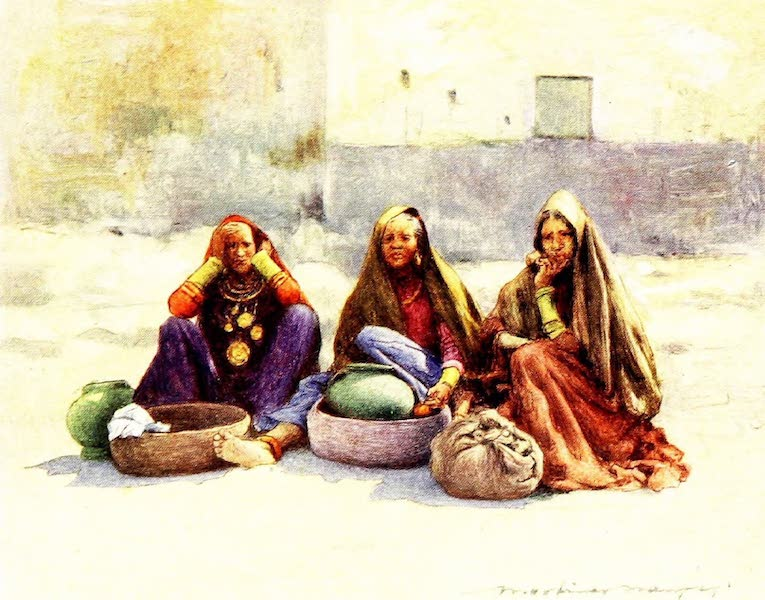 India by Mortimer Menpes - Market Women of Ajmere (1905)