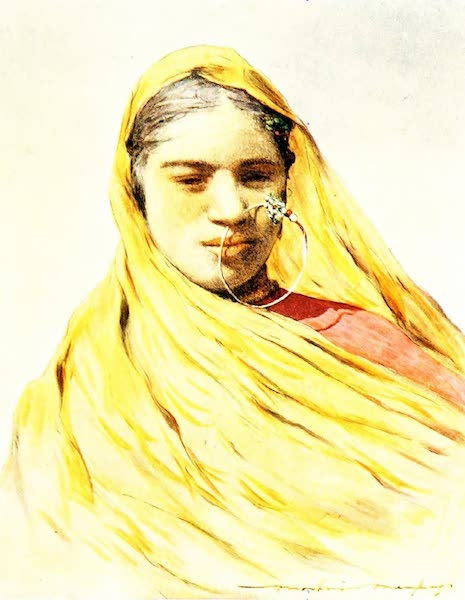 India by Mortimer Menpes - A Native Bride (1905)