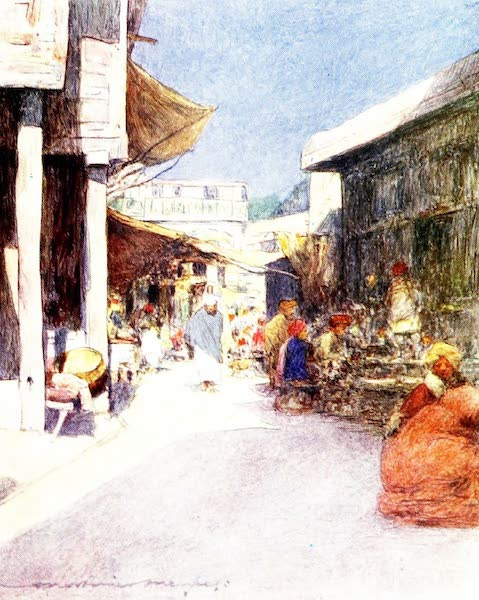 India by Mortimer Menpes - A Narrow Street (1905)
