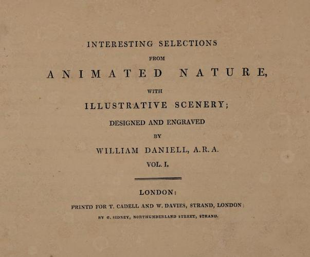 Aquatint & Lithography - Interesting Selections from Animated Nature Vol. 1