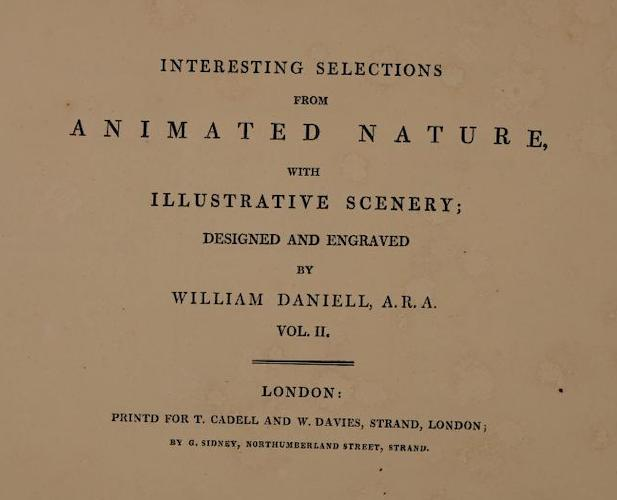 Aquatint & Lithography - Interesting Selections from Animated Nature Vol. 2