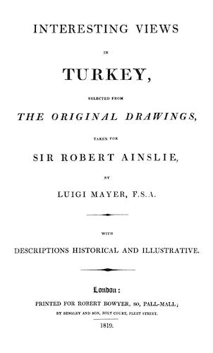Interesting Views in Turkey (1819)