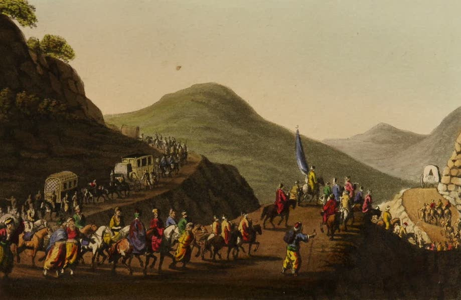 Interesting Views in Turkey - Road Over the Balkan Mountain (1819)