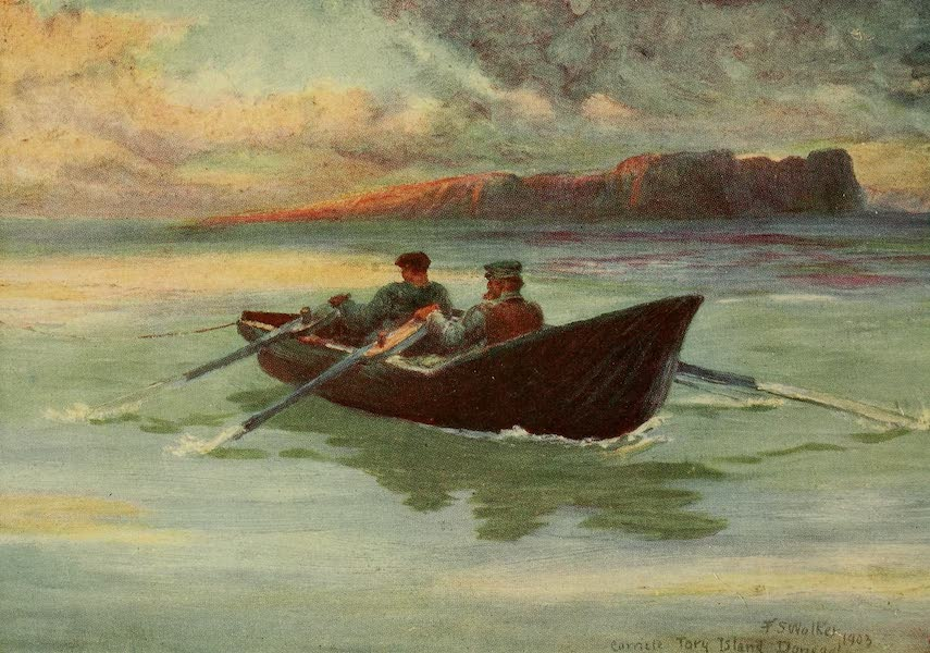 Ireland Painted and Described - A Coracle, Tory Island (1907)