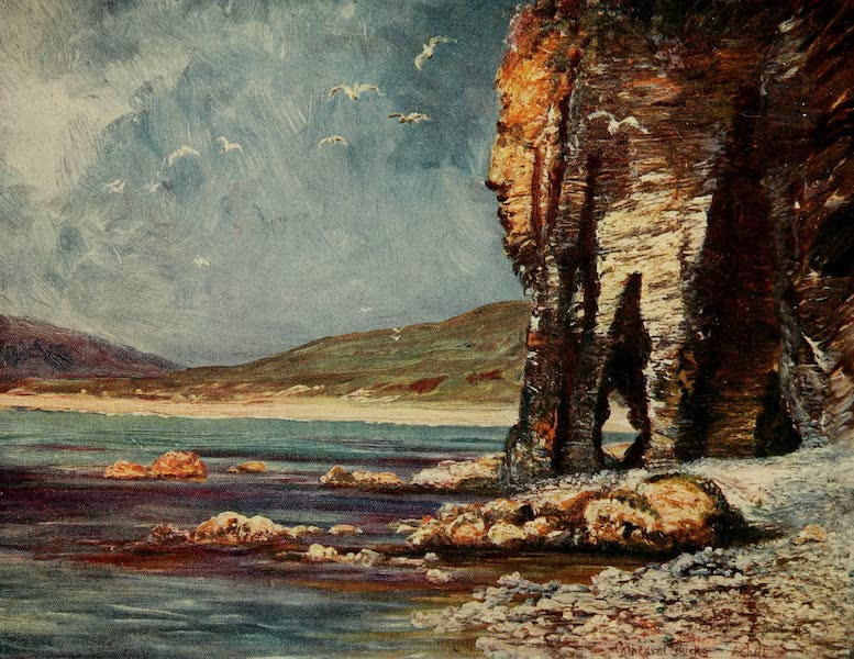 Ireland Painted and Described - Cathedral Cliffs, Achill (1907)