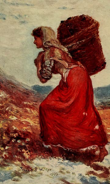 Ireland Painted and Described - Carrying Turf (1907)