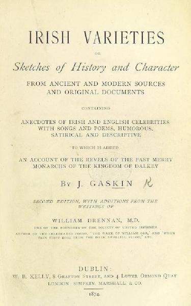 Irish Varieties - Title Page (1874)