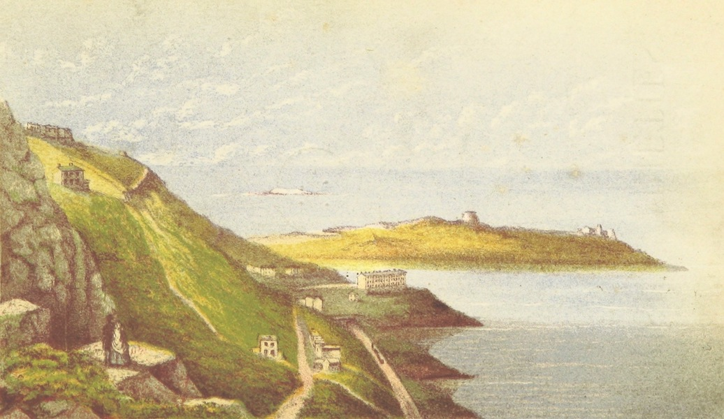 Irish Varieties - View of Dalkey Island and Sorrento from the Vico Road (1874)