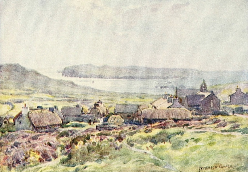 Isle of Man Painted and Described - Bradda Head, Port Erin (Moonlight) (1909)