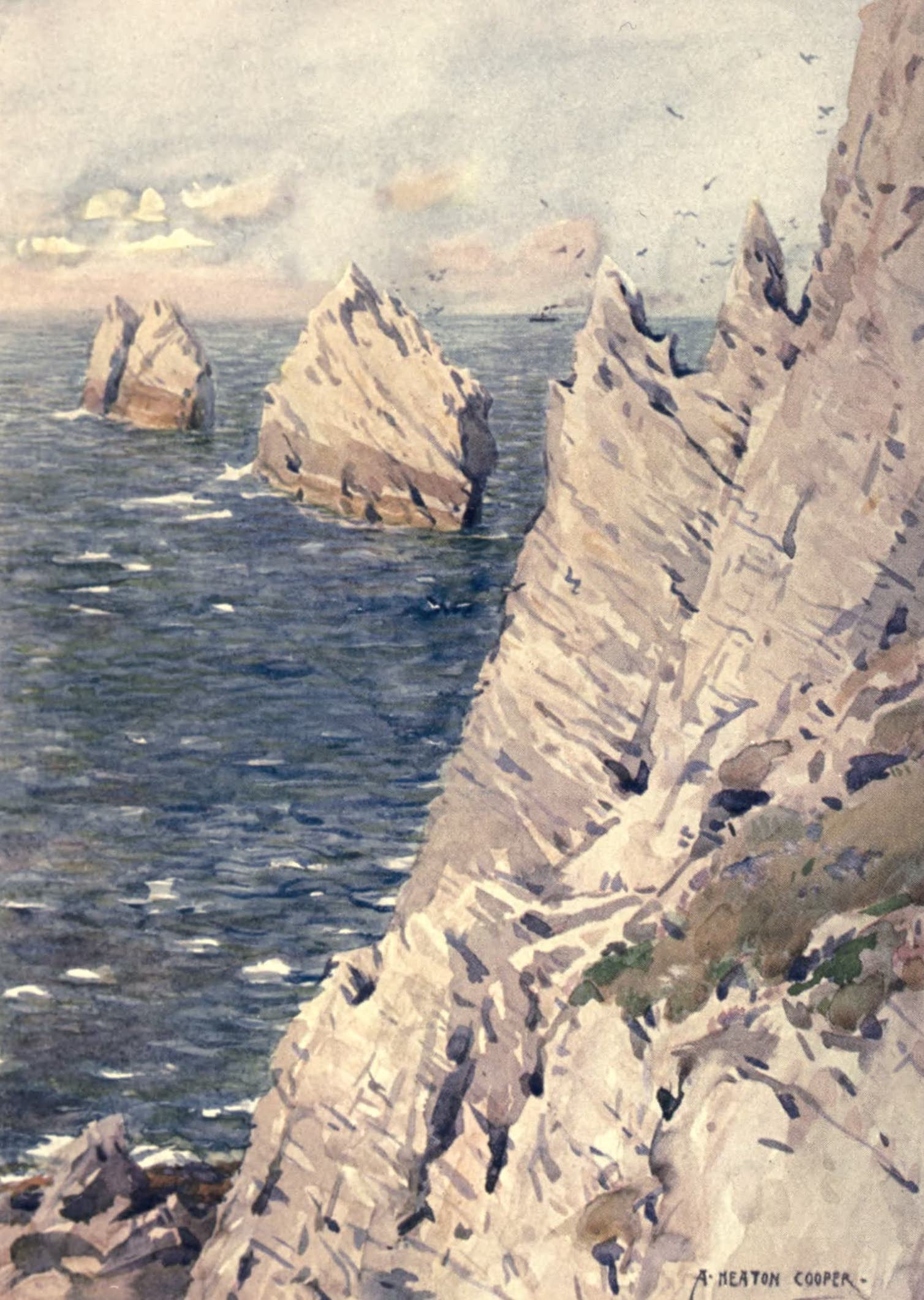 Isle of Wight Painted and Described - The Needles (1908)