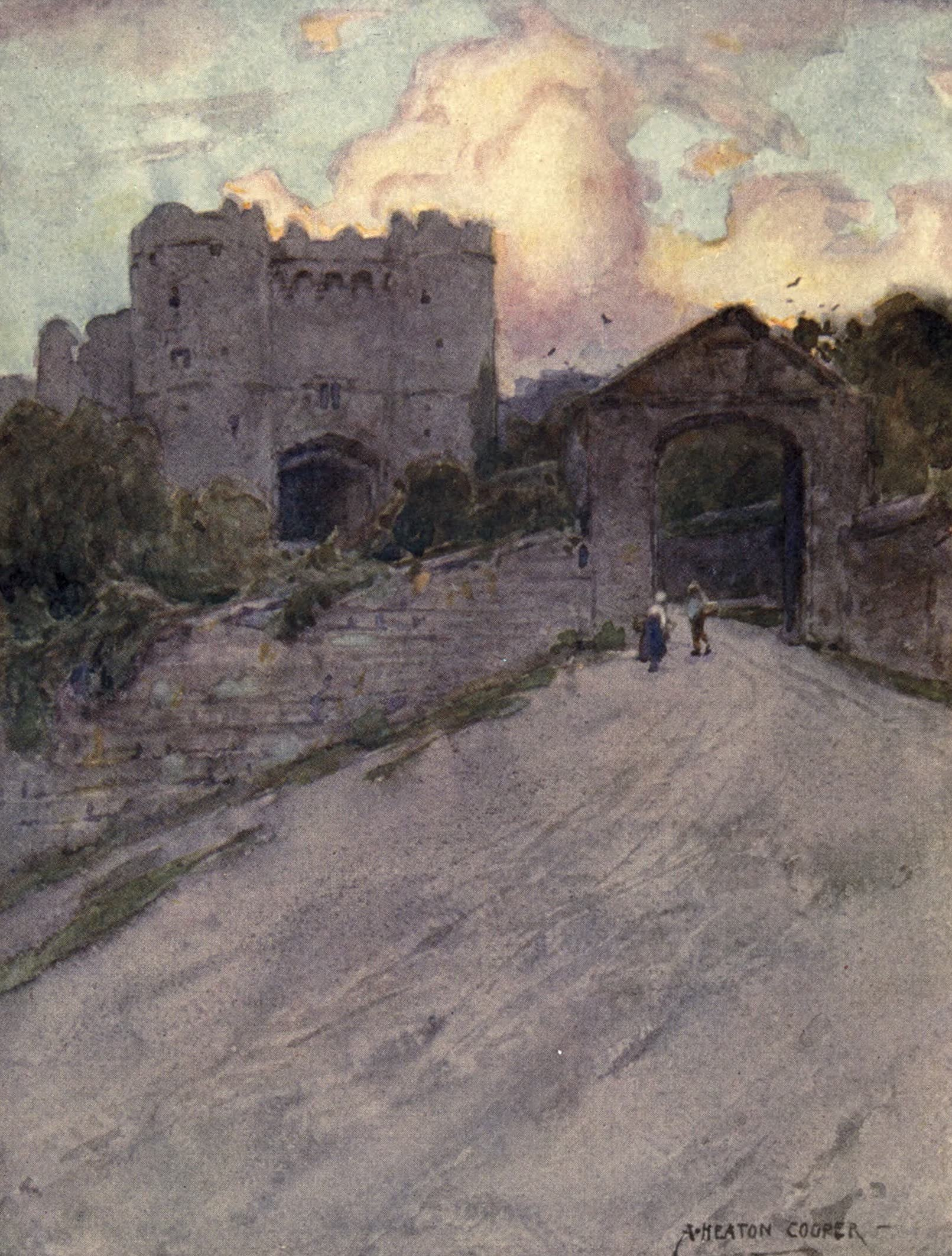 Isle of Wight Painted and Described - Carisbrooke Castle (1908)