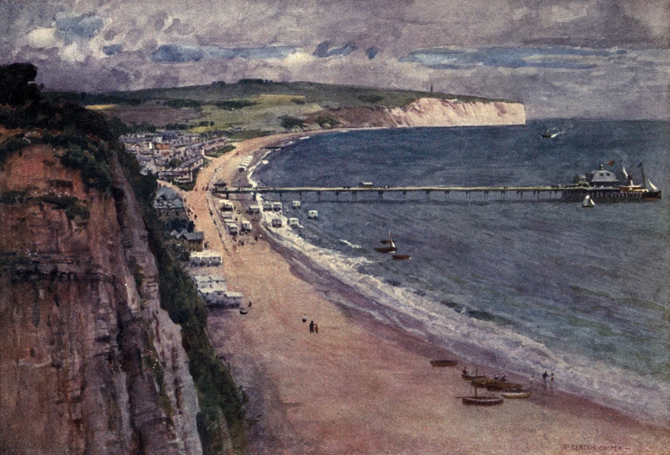 Isle of Wight Painted and Described - Sandown Bay (1908)