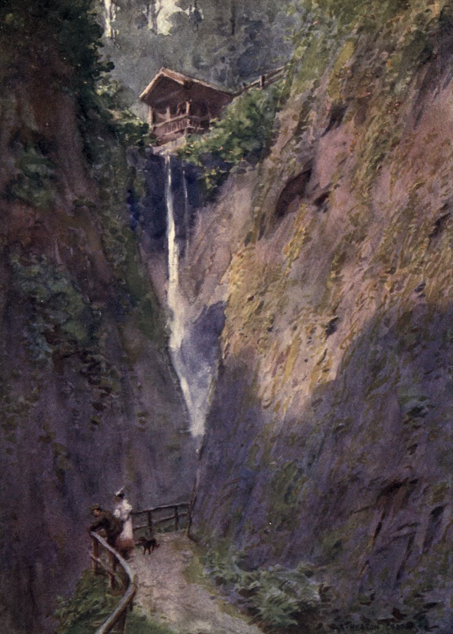 Isle of Wight Painted and Described - Shanklin Chine (1908)