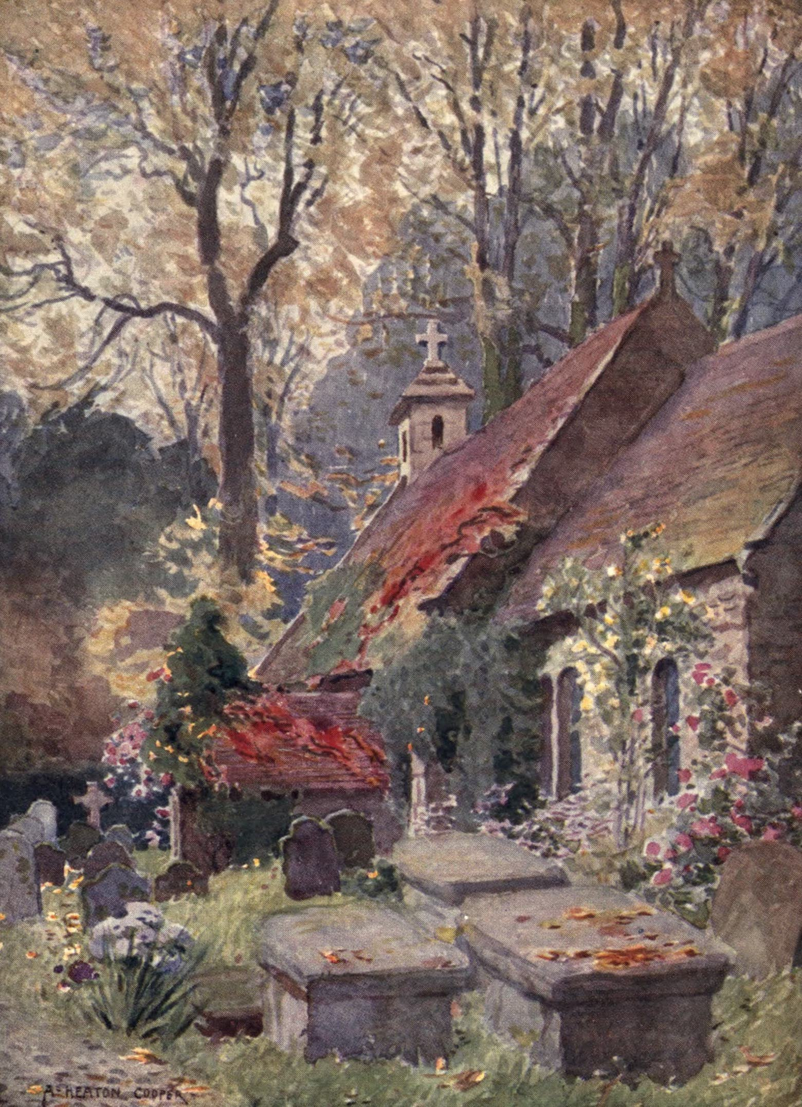 Isle of Wight Painted and Described - Bonchurch Old Church near Ventnor (1908)