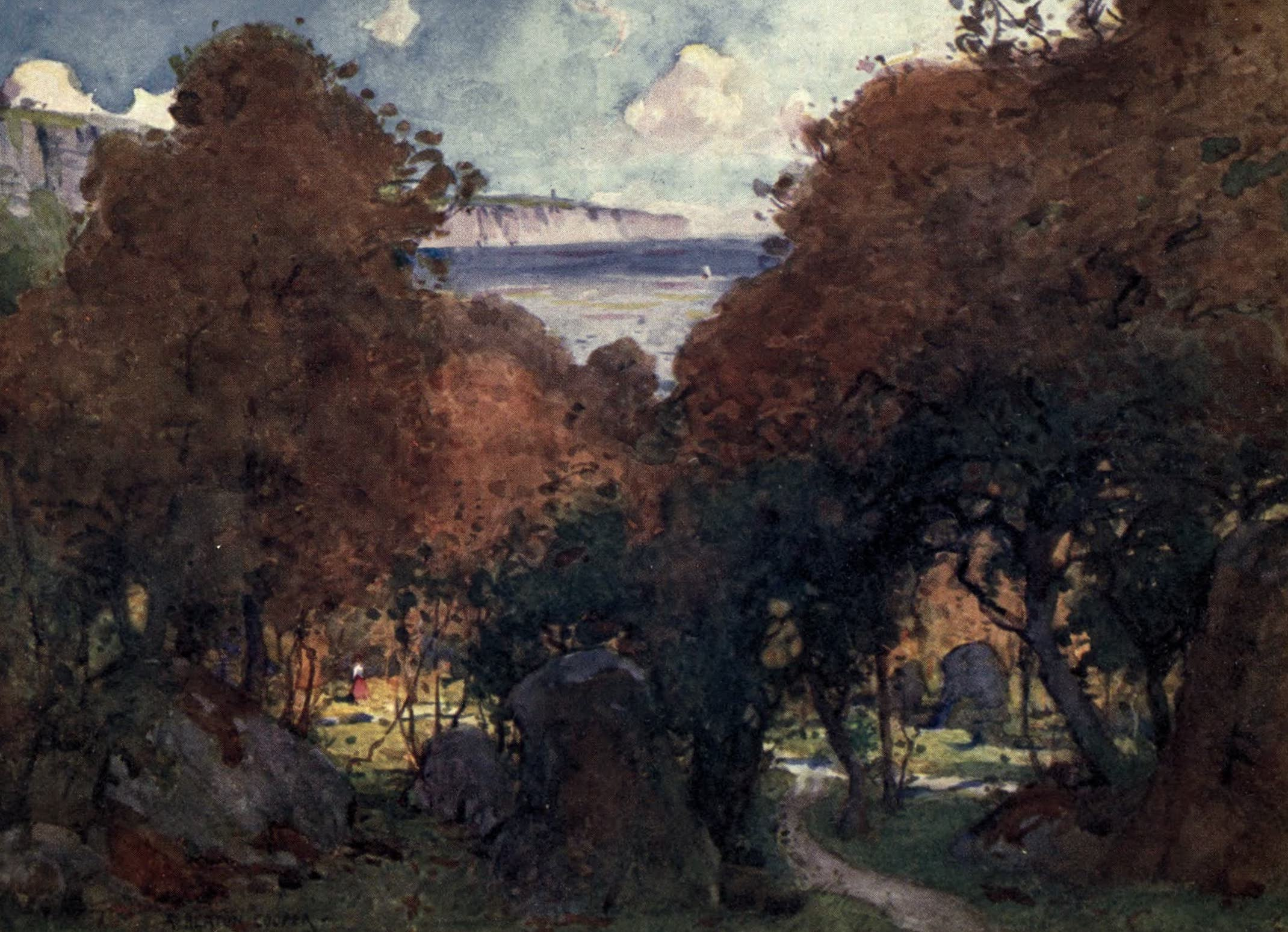 Isle of Wight Painted and Described - The Landslip near Ventnor (1908)