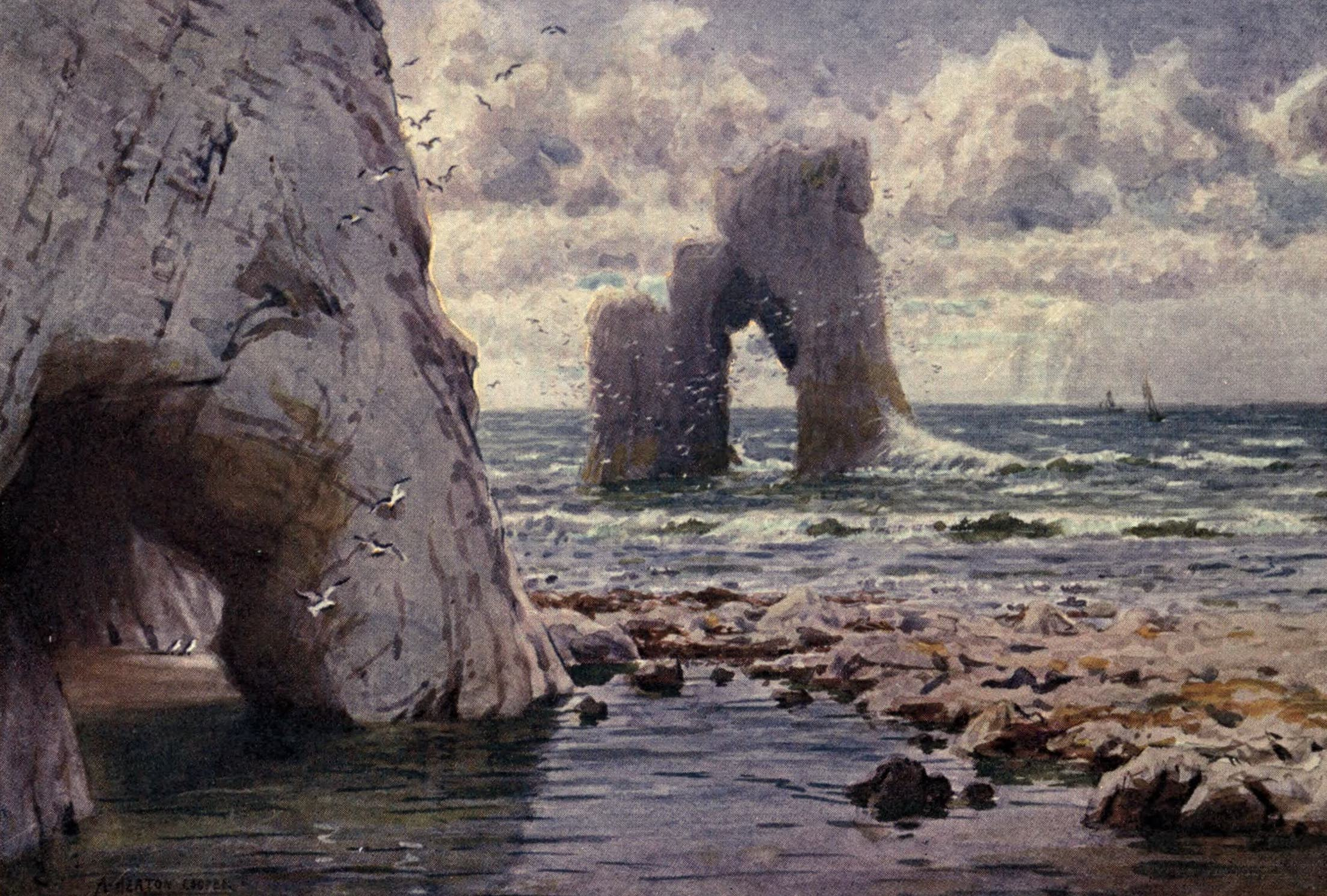 Isle of Wight Painted and Described - Freshwater Bay (1908)