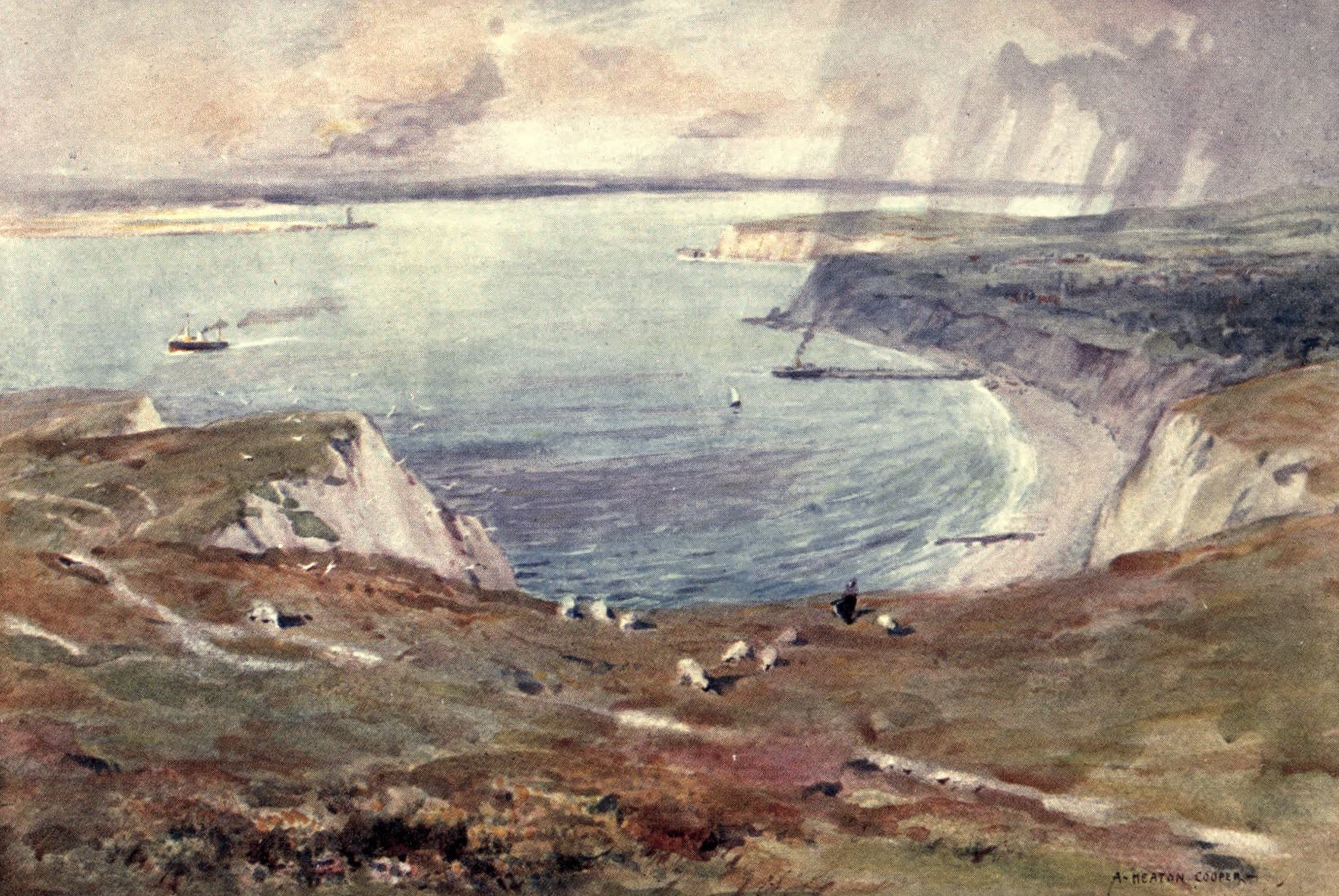 Isle of Wight Painted and Described - Totland Bay (1908)