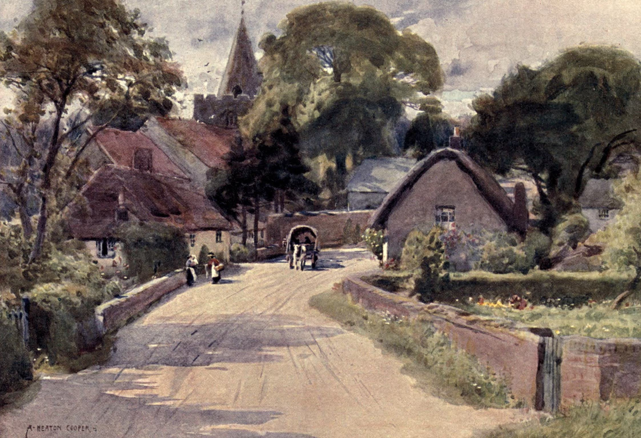 Isle of Wight Painted and Described - Shalfleet (1908)