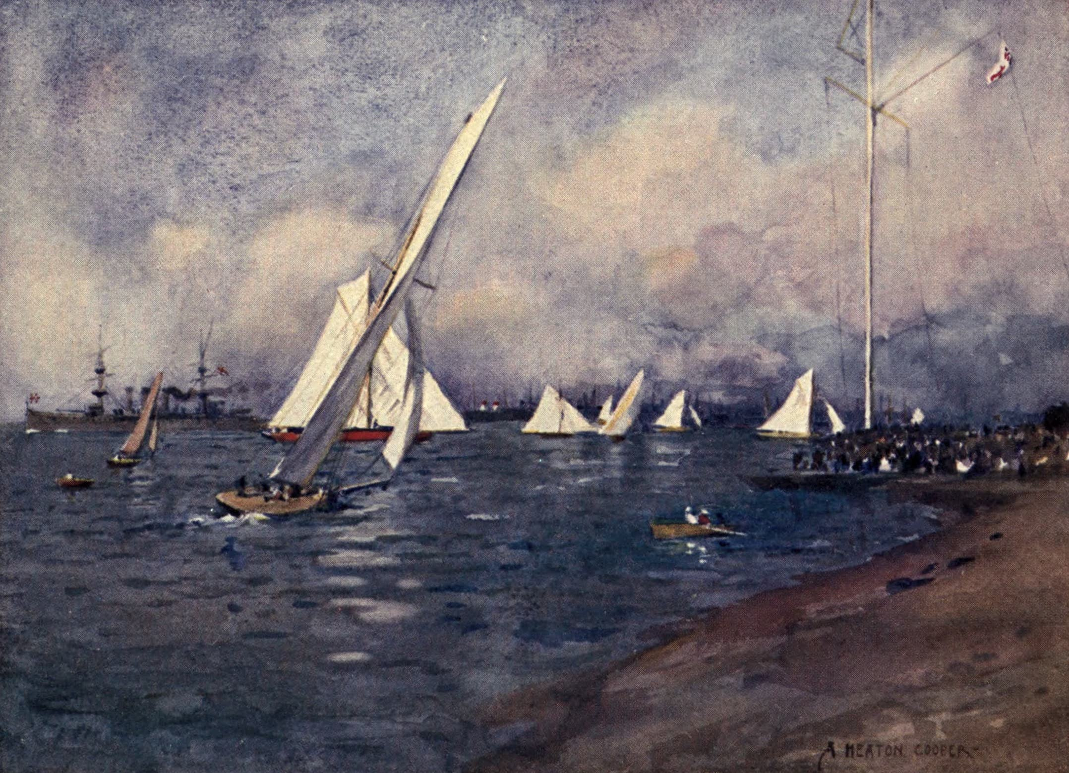 Isle of Wight Painted and Described - Yachting at Cowes (1908)