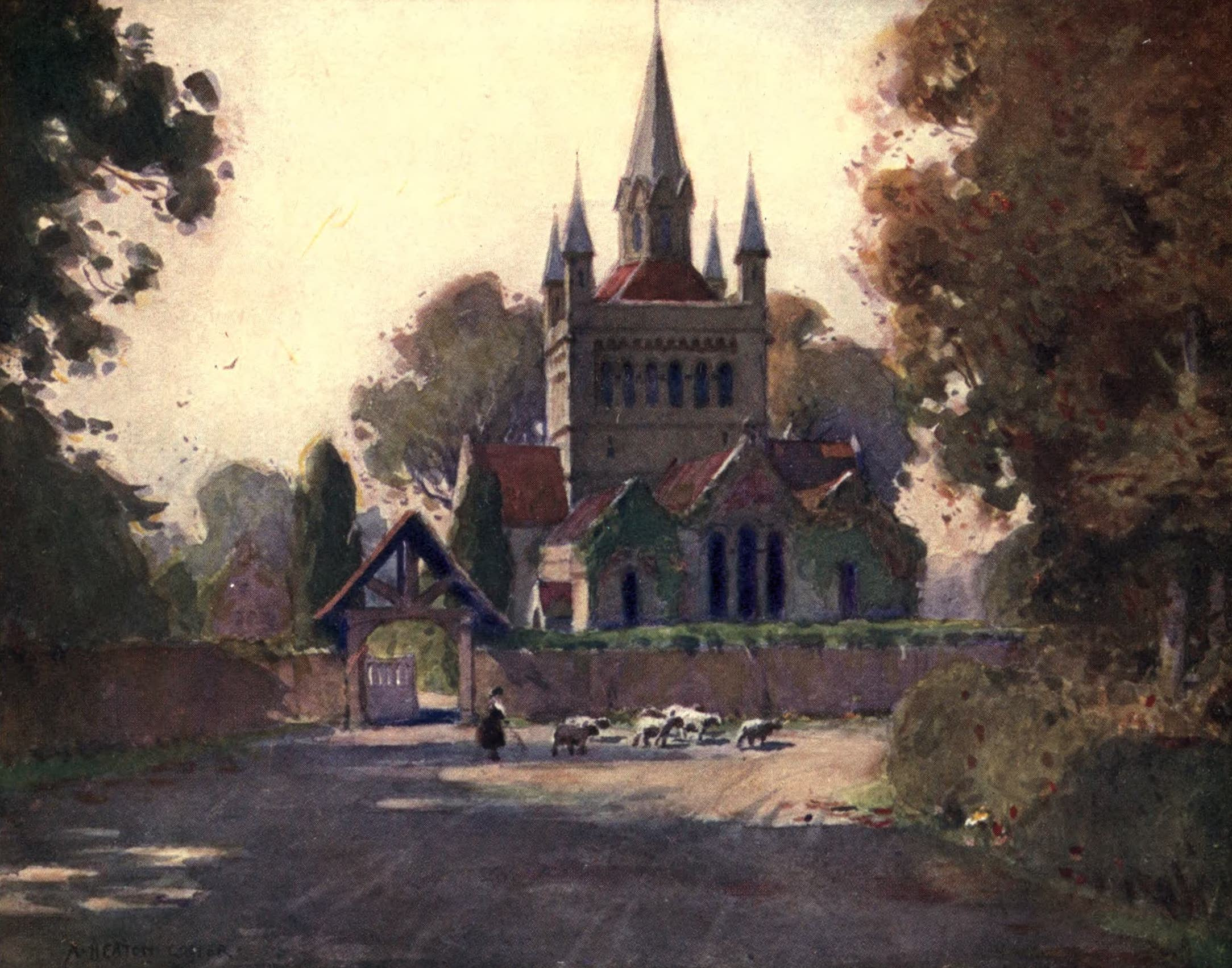 Isle of Wight Painted and Described - Whippingham Church (1908)