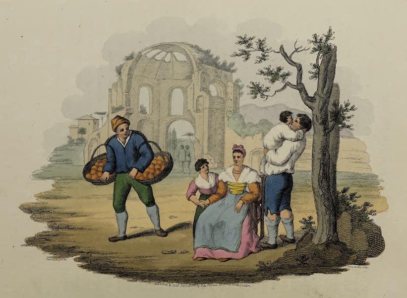 Italian Scenery - A Roman Family and the Temple of Minerva Medica (1806)