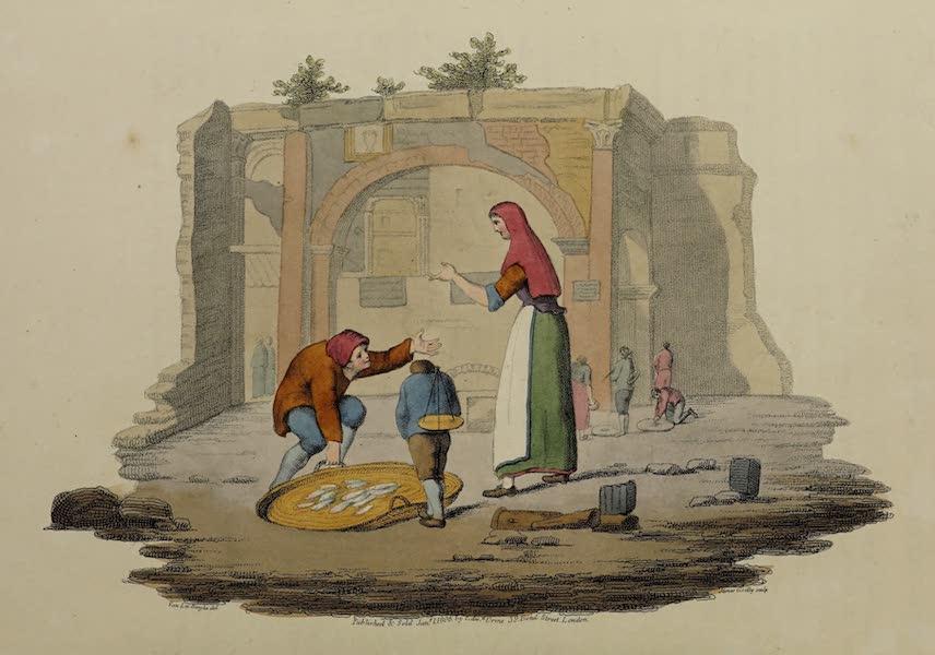 Italian Scenery - The Fish Market at Rome, and Portico of Octavia (1806)