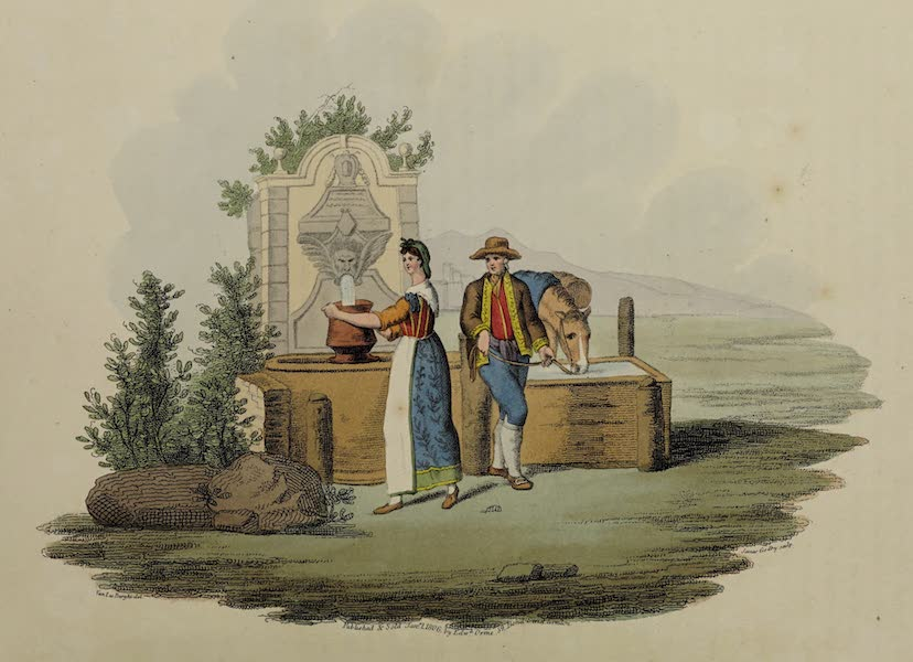 Italian Scenery - A Fountain near Rome (1806)