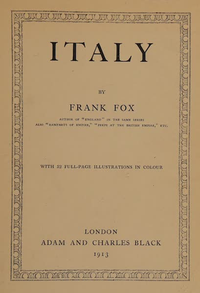 Italy - Title Page (1913)