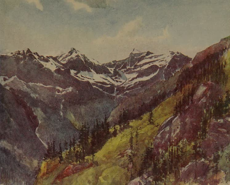 Italy - Looking down the Val Formazza (1913)
