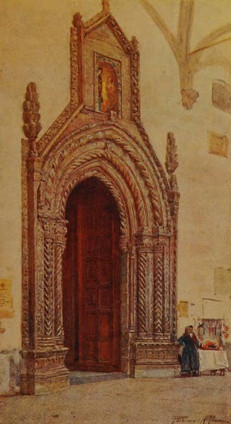 Italy - South Doorway of Cathedral, Palermo (1913)