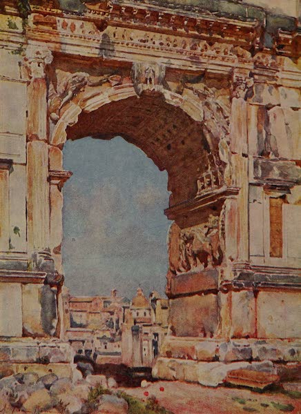 Italy - Arch of Titus, Rome (1913)