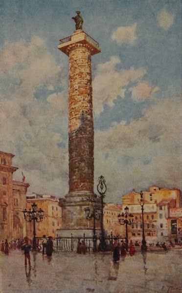 Italy - Column of Marcus Aurelius, Rome (1913)