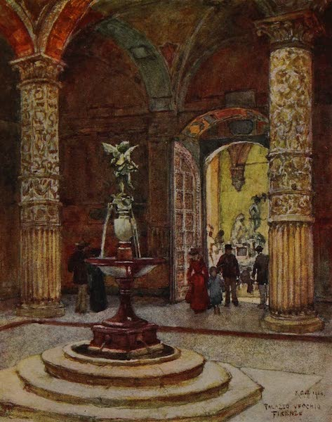 Italy - Courtyard of the Palazzo Vecchio, Florence (1913)