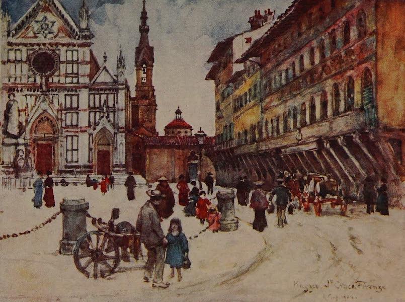 Italy - Piazza Santa Croce, Florence (1913)