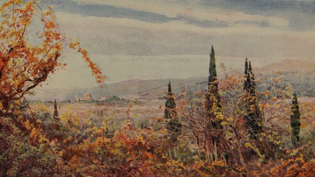 Italy - A Distant View of Florence (1913)