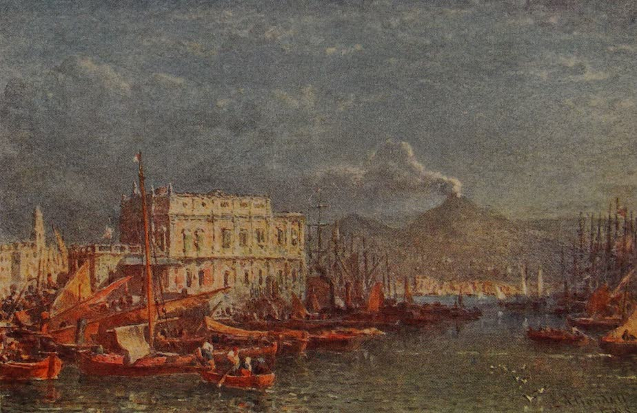 Italy - The Dogana, Bay of Naples (1913)