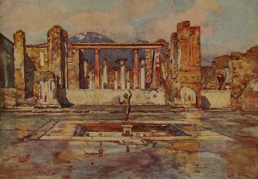 Italy - The House of the Faun, Pompeii (1913)