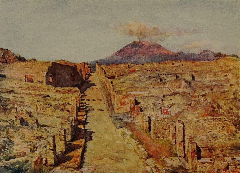 Italy - Stabian Street, Pompeii (1913)