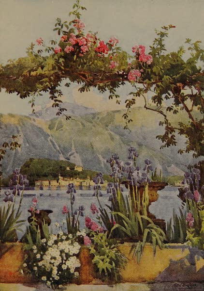 Italy - A Garden at Cadenabbia, Lake Como (1913)