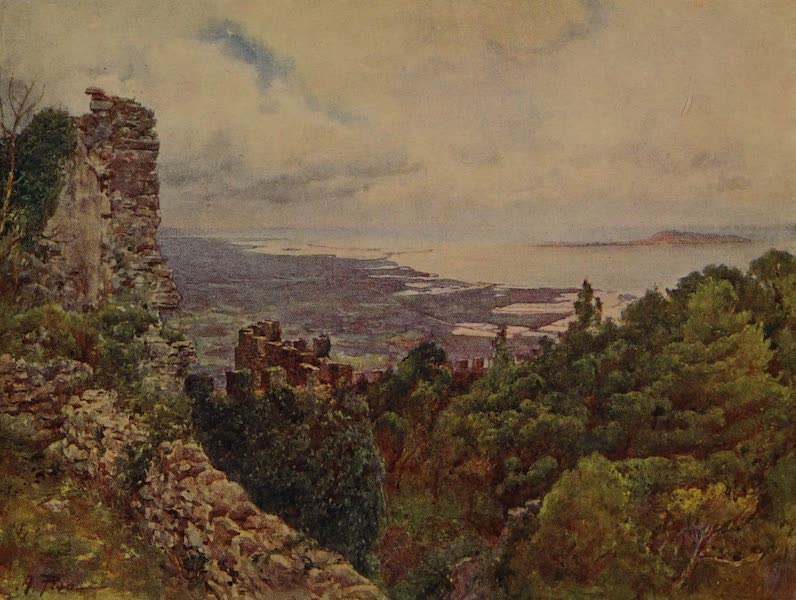Italy - Coast near Trapani and Island of Aigousa, scene of the Roman Naval Victory, 242 B.C. (1913)