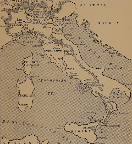 Italy - Sketch Map of Italy (1913)