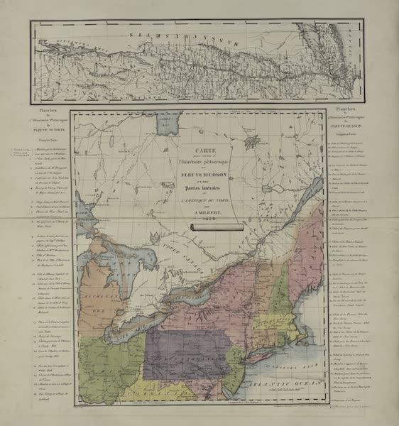 Itineraire Pittoresque du Fleuve Hudson Atlas - Carte pour servir a l'Iteneraire Pittoresque de Fleuve de Hudson (1828)